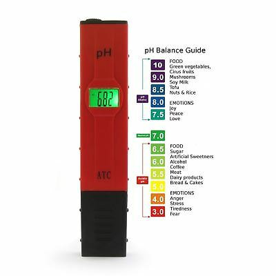 Digital pen PH Meter Tester Pocket Aquarium Pool Water Wine Urine LCD PH-107