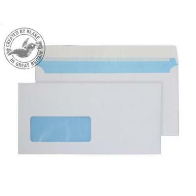 Window Peel & Seal Quality DL Plain White Everyday Mailing Envelopes 100GSM