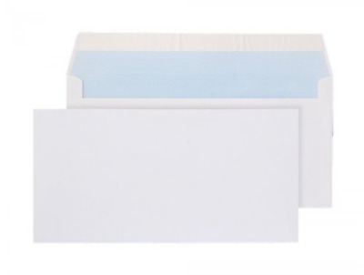 Peel & Seal Quality DL Plain White Everyday Mailing Envelopes 100GSM 110 x 220mm