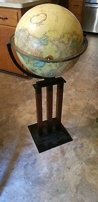 Replogle World Classic Series 16 Inch World Globe With Metal Wood look Stand
