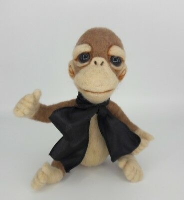 NEEDLE FELTED BiRtHDaY Monkey Hat Chimp Baby Party OOAK-Artist-by Sarah