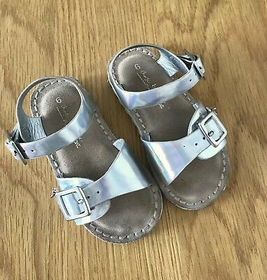 NEXT toddler girl very pretty silver summer sandals! 23, Uk6