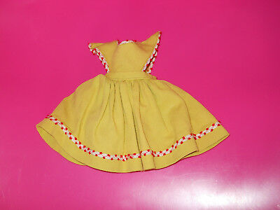 """Madame Alexander Yellow Pinafore for a 14"""" Margaret O'Brien Doll"""