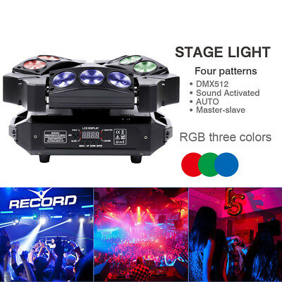 90W 9LED RGB Beam Mini Bird Moving Head Stage Lighting DMX DJ Disco Party Light