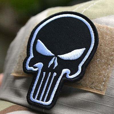 Punisher Schädel Moral Stickerei Patch Tactical Armband Military Abzeichen Hot