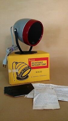 Kodak Adjustable Safelight Lamp Model B with box and OC filter and wall mounting