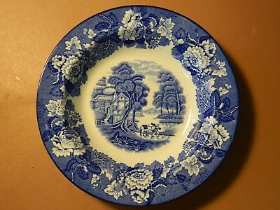 """Vintage Enoch Woods Ware English Scenery 7 3/4"""" Bowl"""
