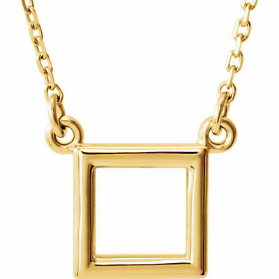 """Square 16.5"""" Necklace In 14K Yellow Gold"""