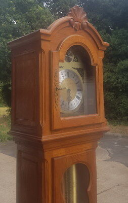 Louis XV Style Vintage French Carved Oak grandfather clock