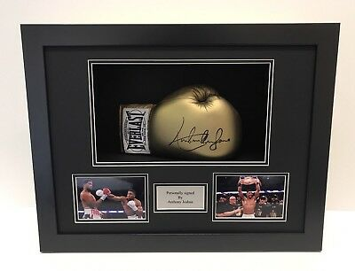 Display Case Frame For Signed Boxing Glove With 6X4 photo slots and Plaque