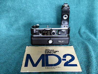 Nikon MD-2 MB-1 Motor Drive System & Rare Instruction Book for F2 F2S F2SB F2AS