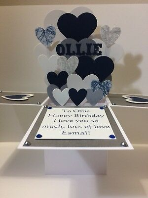 Personalised Handmade Birthday Anniversary Valentines Card Husband