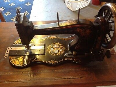 Old fiddle base treadle sewing machine