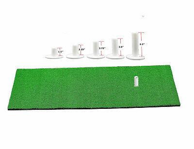 Rubber Golf Tees 5 Different Size for Driving Range Holder Tee Swing Training