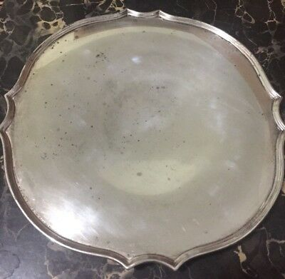 Silverplate Tray Marked WASHINGTON 4253 With Four Hallmarks Falcon Etc.