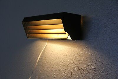 "Vintage Lightolier Louvered wall accent  Light Lamp - Mid Century Eames 11""x4"""