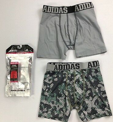 Boy's Youth Adidas Climalite Boxer Brief Underwear