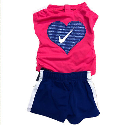 Nike Heart Infant Two Piece Deep Night Size 3/6M