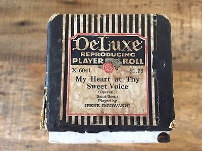 DELUXE 88 Note Player PIano Roll X-6041 'MY HEART AT THY SWEET VOICE' by Saens