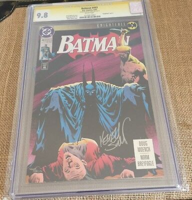 Batman 493 Cgc 9.8 Wp Ss Signature Series Signed Kelly Jones 4 Slabs Ship $13.65