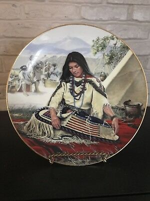 Sacajawea NOBLE AMERICAN INDIAN WOMEN by David Wright Hamilton Collector Plate
