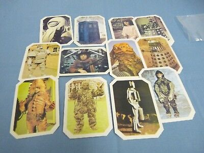 Doctor Who 1976 BBC Ty Phoo Tea Cards Complete Mint Set of 12 WOW!!!!
