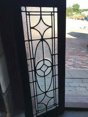Sg 2374 Antique Textured And Beveled Glass Transom Window 16 X 42
