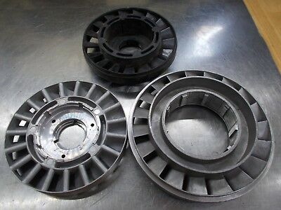 Industrial Machine Age aluminum fan turbines Steampunk Art Parts