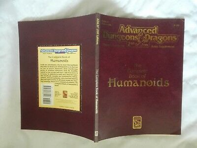 THE COMPLETE BOOK OF HUMANOIDS 2nd ADVANCED DUNGEONS & DRAGONS