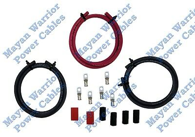 BIG 3 Heavy Duty High Output cable wire kit UPGRADE 4 AWG GAUGE Alternator batte
