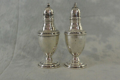 Vintage Rogers Sterling Silver Salt & Pepper Shakers   weighted