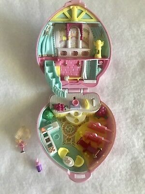 Vintage 1995 Polly Pocket Stylin' Workout/Happenin Hair Compact