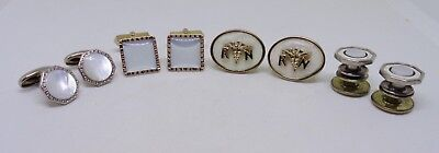 Vintage cufflinks lot Anson Swank kum apart mop R N gold filled art deco