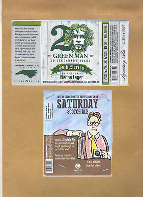 Rare Micro Beer Labels  Exhibit A  Green Man !!!