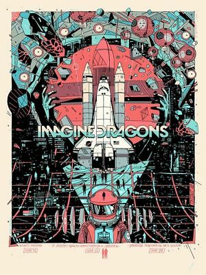 Imagine Dragons EVOLVE Tour Poster Hartford-Syracuse-Saratoga Tyler Stout 2018