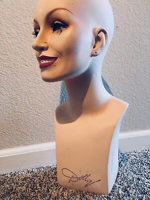 Vintage Dolly Parton Wig Mannequin Bust