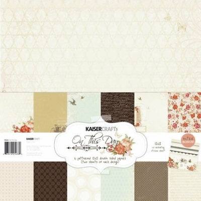 *A&B* KAISERCRAFT Scrapbooking Paper Pack - On This Day - PK436