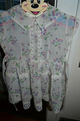 vintage 1950s sheer frilly delicate baby toddler girl lace floral party dress