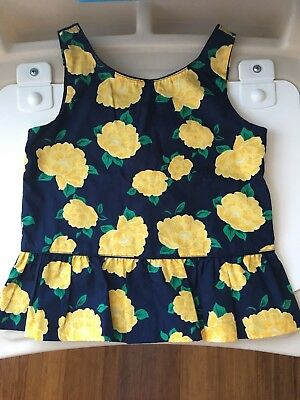 5T Janie and Jack  T-shirt with yellow flowers