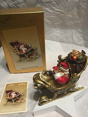 Hallmark 2004 Santa Plotting the Course Club Exclusive Keepsake Ornament NEW