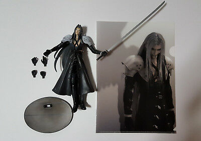 Sephiroth Advent Children action figure with stand & folder [LOOSE, USED, AS-IS]
