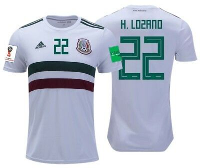 ADIDAS HIRVING LOZANO Mexico 2018 World Cup Home Authentic Player ... 140cb0ff5