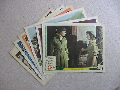 """Lot of 6 Vintage 11"""" x 14"""" Lobby Cards - 1943 - 1962"""