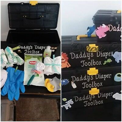 Daddys Diaper Toolbox for GIRL baby gift