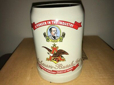 Anheuser Busch Post Convention Heritage Adolphus Busch Stein - First In Series!