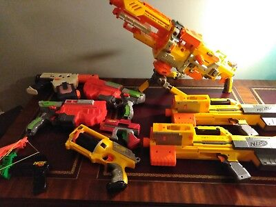 Huge lot of 9 Nerf guns big and small