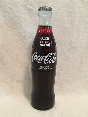 Full 0.25 Liter Coca-Cola Acl Soda Bottle From Sweden