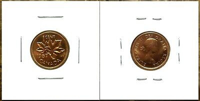 Canada 1957 Small Cent Gem BU UNC Red!!