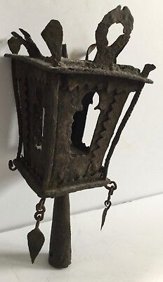 1800's Antique Parade Ceremonial Lantern Buddhist Hand Wrought