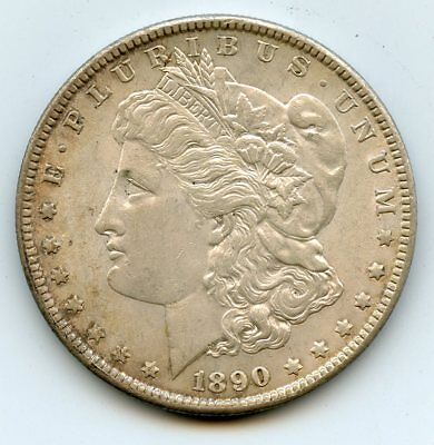 1890 Morgan Silver Dollar UNC with white luster